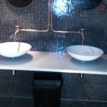 Installatie sanitair koperen leidingen
