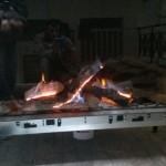 Brandende open haard